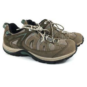 Oboz Beige Turquoise Hiking Athletic Shoes Size 8